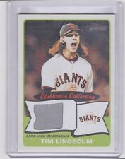 Tim Lincecum 2014 Topps Heritage Clubhouse Collection Relic/Jersey Giants Grey