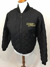 Harley Davidson Reversible Jacket Women's Size Small Black Motorcycle Quilted
