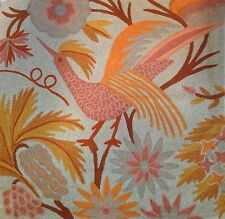 """New Pottery Barn BEATRICE CREWEL EMBROIDERED PILLOW COVER 24x24"""" Peacock NWT"""