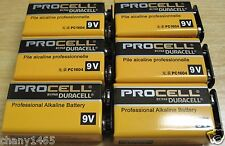 Lot of 6 Fresh Dated Duracell Procell 9V Professional Alkaline Batteries #PC1604
