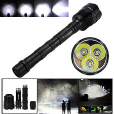 Trustfire 6000Lm 3x XML T6 LED 5-Modes Tactical Flashlight Hunting Torch18650