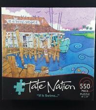 Tate Nation If it Swims 18 x 24 550 Piece Jigsaw Puzzle NEW