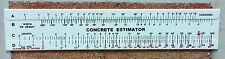 Concrete Slide Ruler 3 pieces 200 Yard Volume Calculator Slide Ruler USA Made.