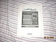 FOSTEX VF160 RECORDER original factory owner's manuals...