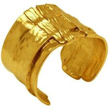 Karine Sultan Gold-plated Oxidized Large Cuff Bracelet,French,Celebrity Favorite