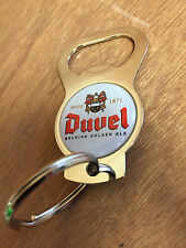 Duvel Beer Bottle Opener Key Chain Chrome One Sided - New & Free Shipping