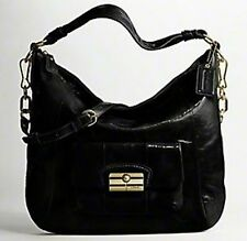 Coach 16014 Kristin Crinkle Patent Leather Large Hobo Satchel Shoulder Bag