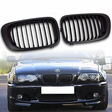 BLACK BONNET GRILLS FOR BMW E46 3 SERIES PRE-FACELIFT COUPE & CONVERTIBLE 99-03