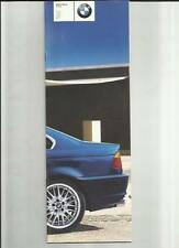 BMW 3 SERIES COUPE INCLUDING SPORT AND M5 MODELS PRICE LIST BROCHURE MARCH 2001