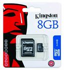 Kingston 8GB MicroSD HC MicroSDHC Memory Card 8 GB SDC4/8GB with Adapter