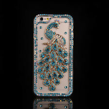 Crystal gem Diamonds Rhinestone Peacock TPU soft gel back Case skin Cover #1