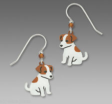 Sienna Sky Jack Russell Terrier EARRINGS Sterling Silver Dangle Dog - Gift boxed