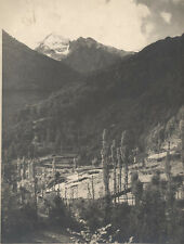 9X12 VINTAGE PHOTOGRAPH OF THE FRENCH ALPS