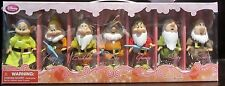 RARE Disney Store Snow White and the Seven Dwarfs Dolls Figure Set Dopey Grumpy
