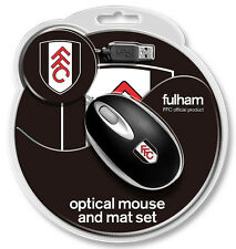 Ufficiale Fulham USB Mini Mouse e CREST Tappetino Mouse / NUOVO SRP £ 14.99