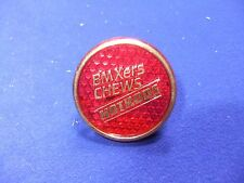 vtg badge bmx ers chews hotrods cycle bicycles plastic reflector style badge
