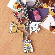 Cartoon Digital Monster Keychain Digimon Adventu Patamon Gabumon Keyring Cosplay