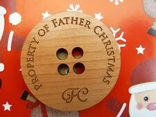 Large Father Christmas Button : Santa's Lost / Missing Coat Button XMAS Gift