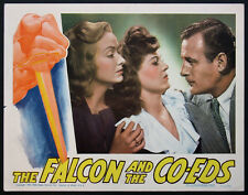 THE FALCON AND THE CO-EDS TOM CONWAY RITA CORDAY 1943 LOBBY CARD