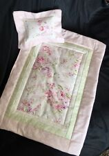 Soft Roses Doll Quilt ~ Made With Shabby Chic Fabric For American Girl Molly Ivy
