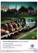 Publicité advertising 2007 Nouveau Volkswagen Touran