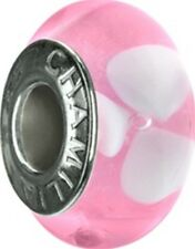 Authentic Chamilia Element Charm 'Pink Petals' Bead Murano Glass O-50