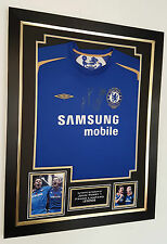 Rare John Terry and Frank Lampard of Chelsea Signed Shirt Autograph Display