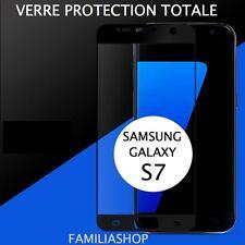 VITRE VERRE TREMPE NOIR Film de protection Intégral Total SAMSUNG GALAXY S7
