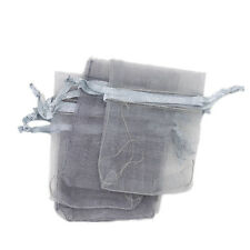 500pcs Solid Grey Organza Gift Bags Party/Wedding Supplies Jewellery Packaging C