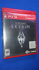 The Elder Scrolls V: SKYRIM PS3 Greatest Hits Complete Near Mint