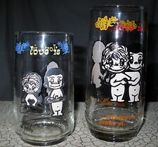 2 Vintage Love Is.. Kim Casali Glasses Drinking Los Angeles Times 1970's