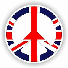 United Kingdom Peace Logo Sticker Love Sign Flag Gas Tank Tablet Truck Door GB