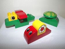 Retired Rare Lego Duplo Cute Animals 2297 - Turtle, Snail, Butterfly