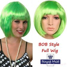 Short Wig BOB Hair Party Cosplay Costume Straight Green Full  Wigs Breathable