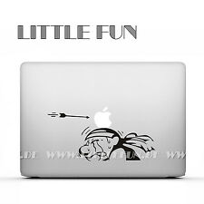"Macbook Aufkleber Sticker Skin Decal new Macbook 12""Macbook Air 11"" Indianer B35"