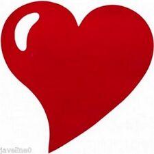 Set da tavolo cuore non tessuto Rosso (lotto di 50)
