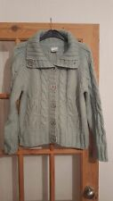 Lovely Next Pale Green Cardigan, Chunky Knit, Size 12/14, Good Condition