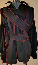 """adult mens black and red SCA renaissance pirate vest costume costumes 40"""""""