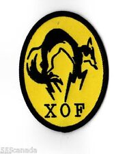 IRON ON Metal Gear Solid XOF Logo Patch - Snake Phantom Pain 2 3 4 V