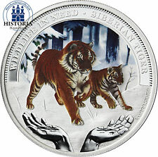 Tuvalu 1 Dollar Silber 2012 PP Wildlife in Need: Sibirischer Tiger