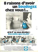 PUBLICITE ADVERTISING 105  1970  CAMPING GAZ   LE soudogaz