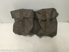 SWISS 2 PIECE BELT POUCH ARMY FIELD GEAR HIKING CAMPING SURVIVALIST PREPPER