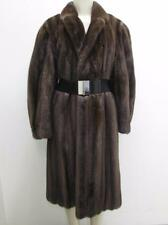 LUXURY SALE! Sable Shade Finest Female Genuine Mink Fur Coat Sz 10-12 Val $9000