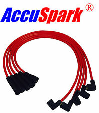Ford Escort, Capri, Cortina, Fiesta x-flow 8 mm silicona accuspark Ht conduce Rojo