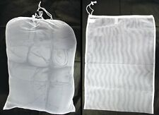 SET OF 3 NEW ARMY SURPLUS NET MESH LAUNDRY BAGS X LARGE 70x50 CM DRAWSTRING NECK