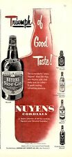 1952 Nuyens Cordials Sloe Gin Schnapps Rock and Rye Vintage Bottles PRINT AD