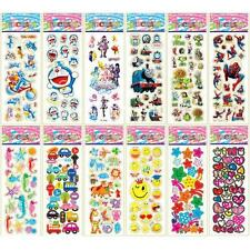 10Pcs Sheets Cartoon Removable Sticker Children 3D Pictures Wall Decal Decor I