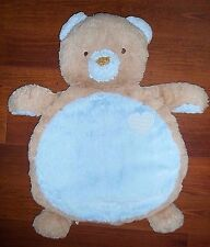 Bestever Mary Meyer Blue Tan Teddy Bear Baby Mat Nursery Plush Big Huge Blanket
