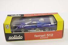 Solido #197 - FERRARI 512 M SUNOCO-Blu-buona condizione/A
