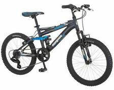 "Mongoose Boys Mountain Bike Bicycle 20"" Aluminum Frame Full Suspension NEW"